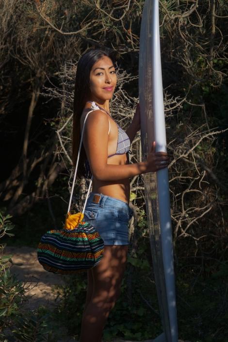 Mango Towel Surf Poncho / Tribal Black Pattern
