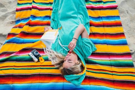 Mexican Blanket or Sarape - Sunrise