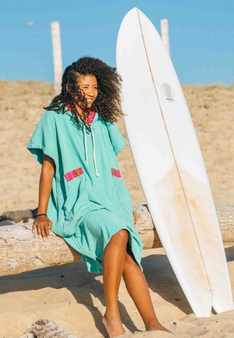 seaglass after surf poncho