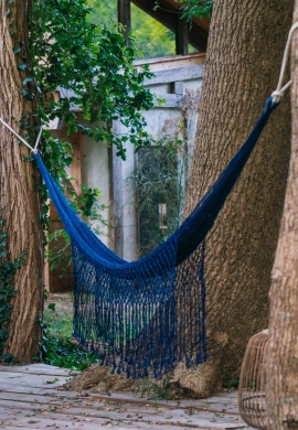 blue handmade hammock