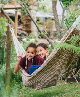 beige hammock cotton