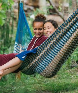 blue hammock cotton