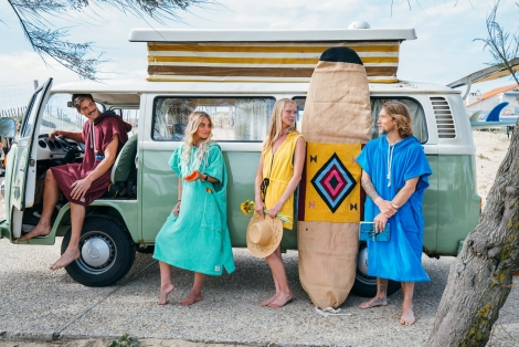 Mango Towel Surf Dress / Reggae wave fabric