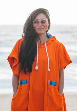 Orange Surf Poncho