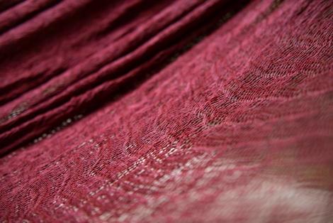 woven hammock burgundy red