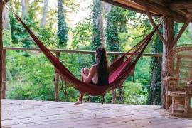crochet hammock burgundy red