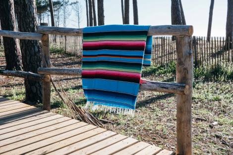 Mexican Blanket or Sarape - Summer Sky