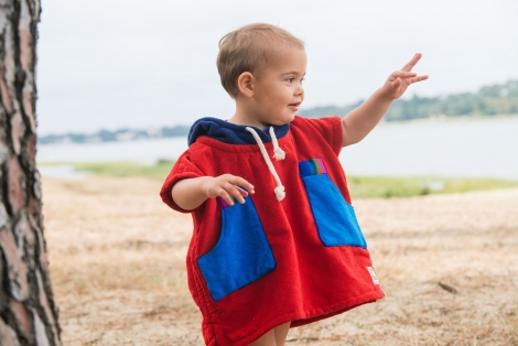 Up-cycled Baby Surf Poncho