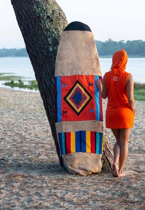 Surfboard Cover 8' - Orange Sunset